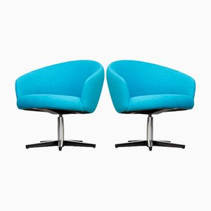 Rondino Swivel Chair by Yngve Ekstrom for Swedese, 1964, Set of 2