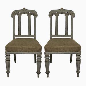 Chaises Gothiques, Angleterre, 1830s, Set de 2