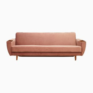 Danish Velour Sofa, 1970s