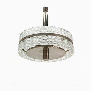 Lámpara colgante de vidrio, años 60