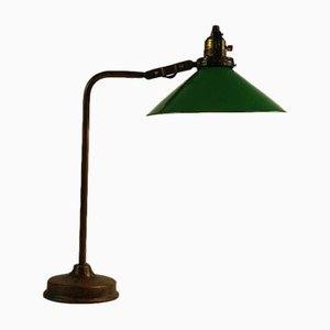 Lámpara de mesa vintage en verde, años 20