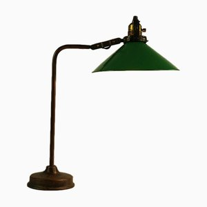 Vintage Green Table Lamp, 1920s