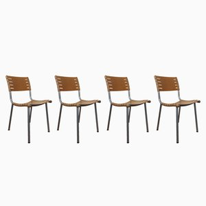 Dutch Slatted Dining Chairs by Ruud Jan Kokke for Harvink, 1990s, Set of 4