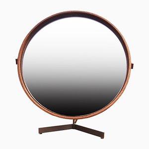 Espejo de mesa de teca de Uno & Östen Kristiansson para Luxus, años 60