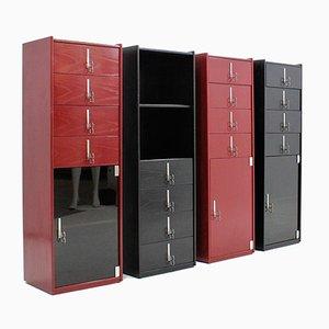 Muebles lacados de Vittorio Introini para Saporiti, años 70. Juego de 4