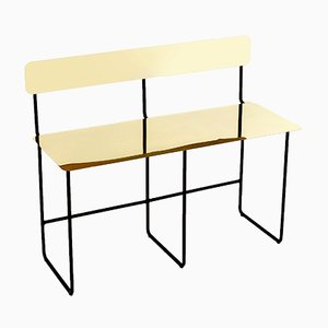 Brass & Steel Presence Bench by Gaspard Graulich