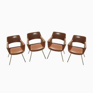 Polnische Vintage Stühle, 1960er, 4er Set