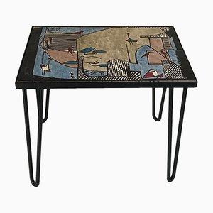 Tisch aus Keramik & Metall, 1950er