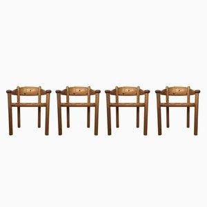 Dänische Esszimmerstühle aus Kiefernholz von Rainer Daumiller für Hirtshals Savvaerk, 1970er, 4er Set