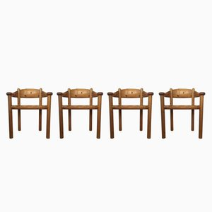 Danish Pinewood Dining Chairs by Rainer Daumiller for Hirtshals Savvaerk, 1970s, Set of 4