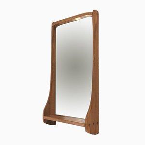 Espejo grande de nogal macizo de Franz Xaver Sproll, años 50