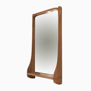 Large Solid Walnut Mirror by Franz Xaver Sproll, 1950s