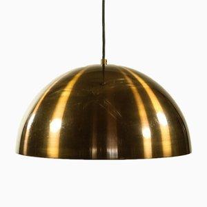 Vintage Brass Hemisphere Pendant Lamp