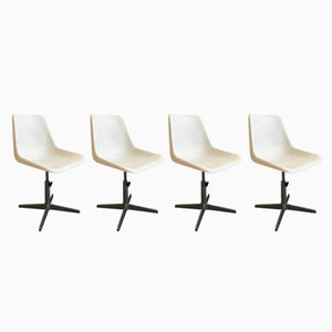 Drehbare Italienische Mid-Century Stühle von Robin Day für S.A.M.U., 1960er, 4er Set