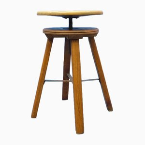 Industrial Workshop Stool by Martin Stoll, 1940s