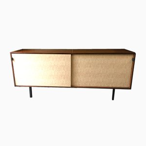 Teak & Seagrass Credenza by Florence Knoll for Knoll International