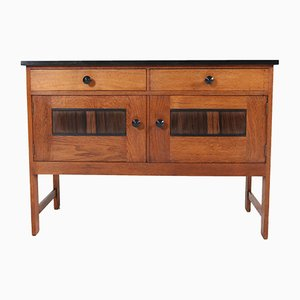 Art Deco Dutch Oak Haagse School Credenza by H. Wouda for H. Pander & Zonen, 1920s