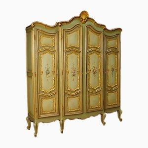 Armario italiano de madera dorada, años 50