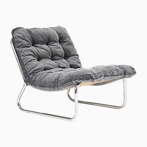 Moderne Mid-Century Sessel mit Stahlrohrgestell, 1970er, 2er Set