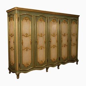 Armario veneciano vintage de madera lacada y dorada