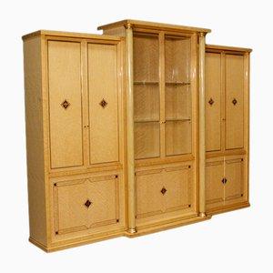 Libreria italiana in legno