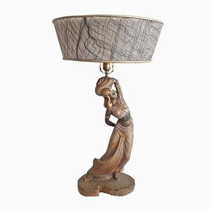 Große bronzierte amerikanische Lampe im Art Deco-Stil, 1950er