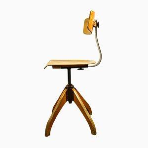 Chaise Pivotante à Hauteur Ajustable Bauhaus de Ama, 1940s