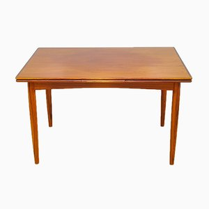 Danish Teak Veneer Extendable Dining Table, 1960s