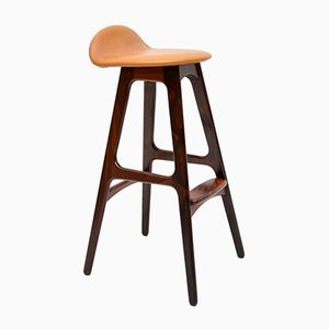 Danish Rosewood Vintage Bar Stool by Erik Buch, 1960s