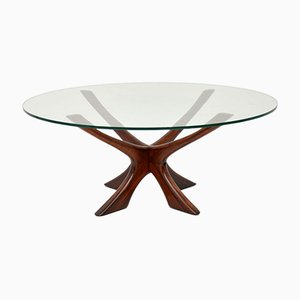 Danish Jax Rosewood Coffee Table by Illum Wikkelsø for Neils Eilersen, 1960s