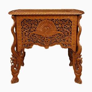 Tavolino da caffè orientale in legno, anni '50