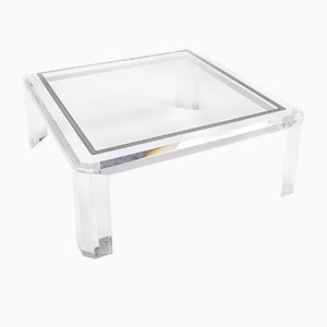 Vintage Square Acrylic Coffee Table, 1970s
