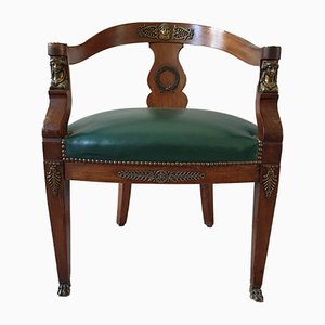 Antique Empire Style Mahogany Armchair, 1900s