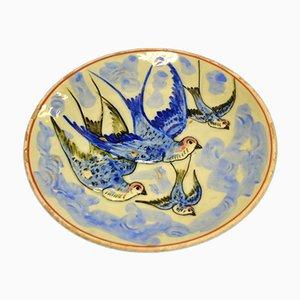 Plato antiguo de cerámica de Barberis