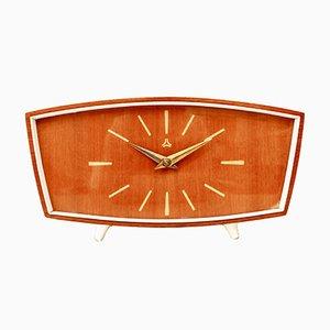 Horloge de Table Mid-Century de Ruhla, Allemagne