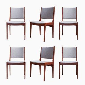 Esszimmerstühle von Johannes Andersen für Uldum Møbelfabrik, 1960er, 6er Set