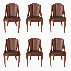 Art Deco Dining Chairs, Set of 6