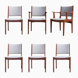 Dining Chairs by Johannes Andersen for Uldum Møbelfabrik, 1960s, Set of 6