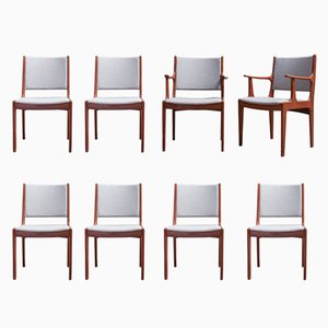 Dining Chairs by Johannes Andersen for Uldum Møbelfabrik, 1960s, Set of 8
