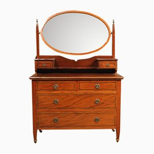 English Inlaid Dressing Table, 1950s