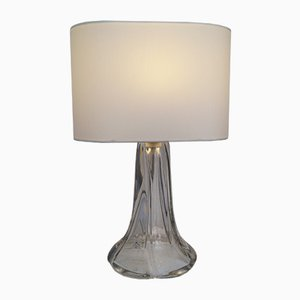 Lámpara de mesa de cristal de Daum, años 50