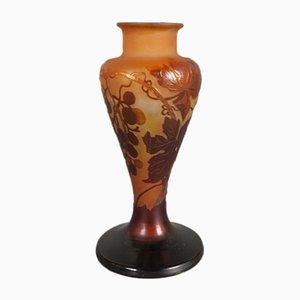 Florale Vase im Jugendstil von Emile Galle