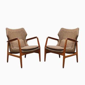 Dänische Sessel mit Gestell aus Teak von Aksel Bender Madsen für Bovenkamp, 1952, 2er Set