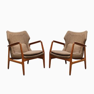 Danish Teak Lounge Chairs by Aksel Bender Madsen for Bovenkamp, 1952, Set of 2