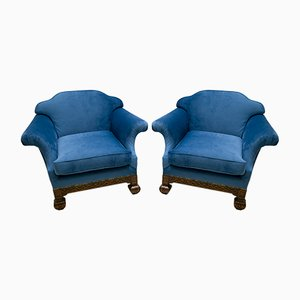 19th Century Neo-Renaissance Oakwood Armchairs, Set of 2