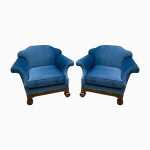 19th Century Neo-Renaissance Oakwood Armchairs, Set of 2