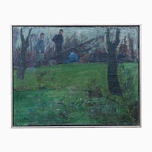 Öl auf Leinwand von Laura Brun-Pedersen, 1920er