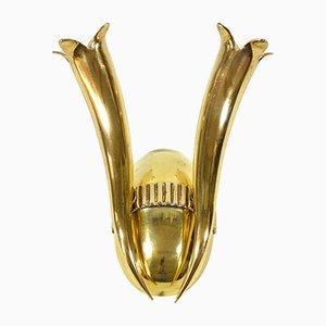 Italian Brass Wall Lamp, 1930s