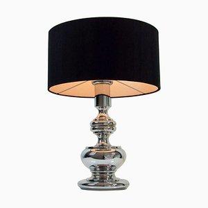 Lámpara de mesa alemana Mid-Century de metal cromado