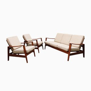 Danish Living Room Set by Arne Wahl Iversen for Komfort, 1960s
